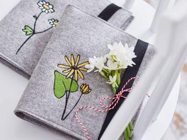 Organizer-Schreibmappe-mit-Botanik-Blume