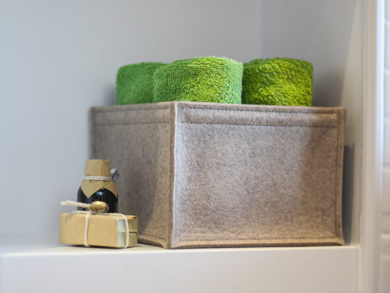 Wäschekorb oder Aufbewahrung aus Filz nach Maß