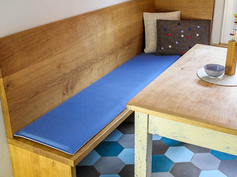wohnen bankauflage nach ma aus filz mit klett befestigung. Black Bedroom Furniture Sets. Home Design Ideas