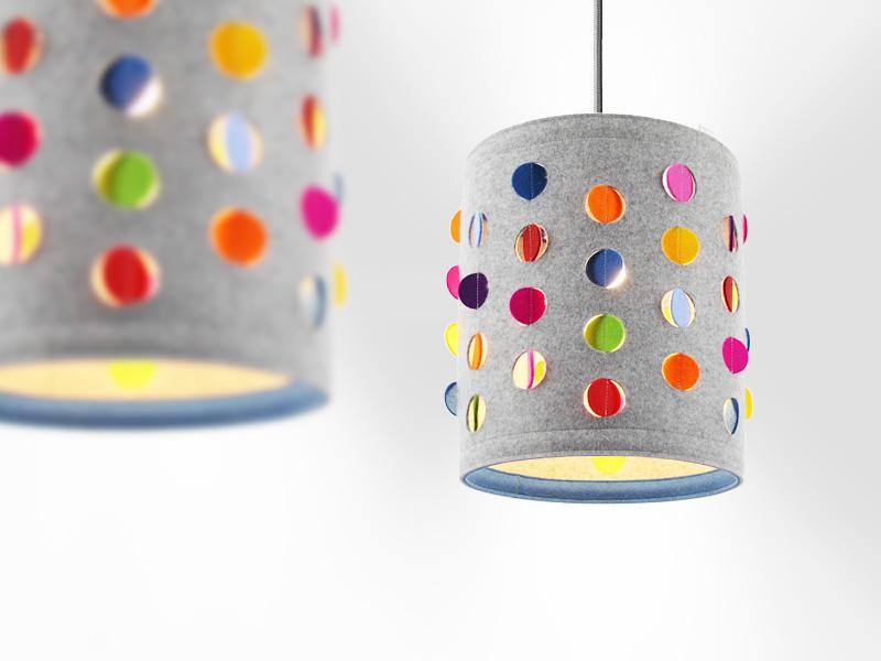 Dot Light Lampen : Wohnen : lampenschirm aus wollfilz dots