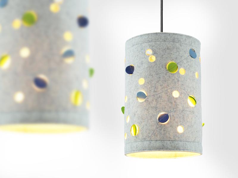 Dot Light Lampen : Lampen : pendelleuchte aus wollfilz wave dots