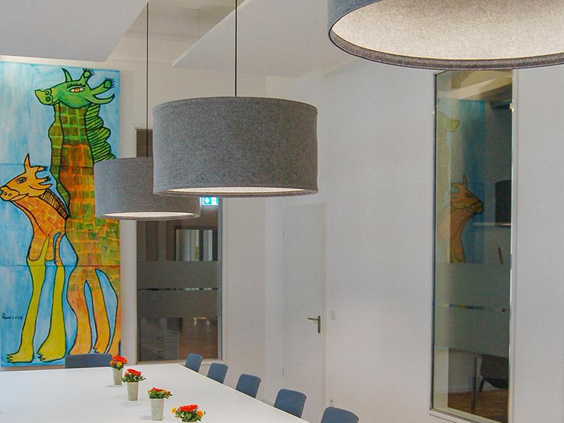 lampen xxl lampe aus filz 100 wolle. Black Bedroom Furniture Sets. Home Design Ideas