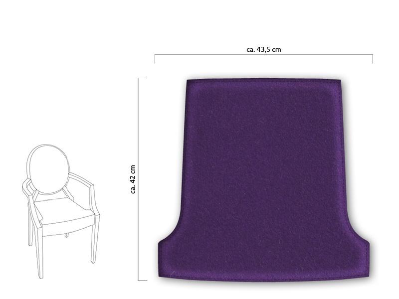 Sitzkissen Aus Filz Passend Für Louis Ghost Chair