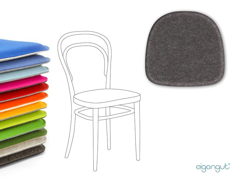 sitzkissen f r designerst hle sitzkissen aus filz passend f r thonet 214. Black Bedroom Furniture Sets. Home Design Ideas