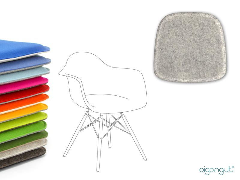Sitzkissen Für Designerstühle : Sitzkissen Gepolstert Aus Wollfilz Passend  Für Eames Armchair