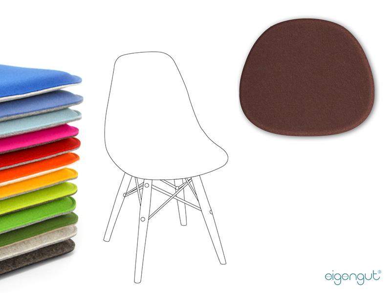wohnen sitzkissen gepolstert aus wollfilz passen fr eames chair - Eames Chair Sitzkissen