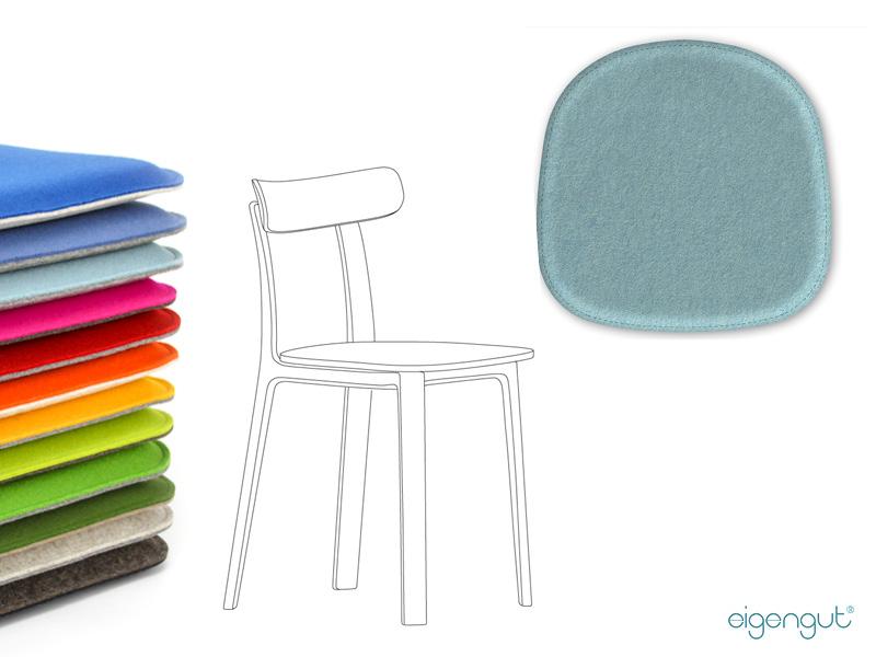wohnen sitzkissen aus filz passend f r vitra all plastic chair. Black Bedroom Furniture Sets. Home Design Ideas