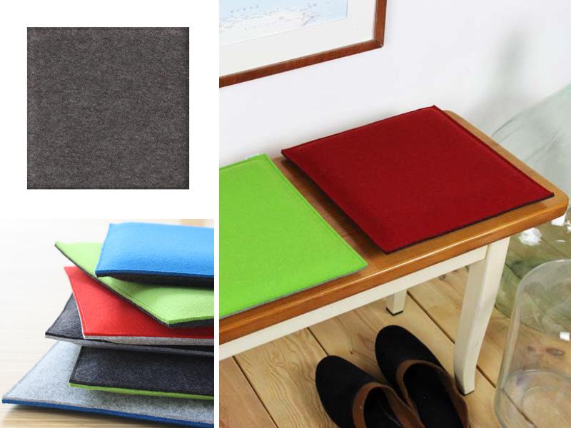 sitzkissen eckiges sitzkissen aus filz in deinen wunschfarben. Black Bedroom Furniture Sets. Home Design Ideas