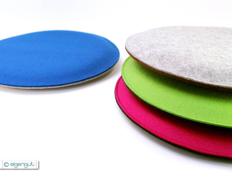 sitzkissen runde sitzkissen gepolstert aus wollfilz bunt