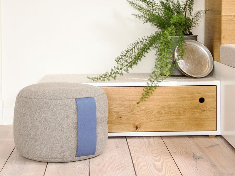 sitzkissen bodenkissen sitzpouf aus filz gro. Black Bedroom Furniture Sets. Home Design Ideas