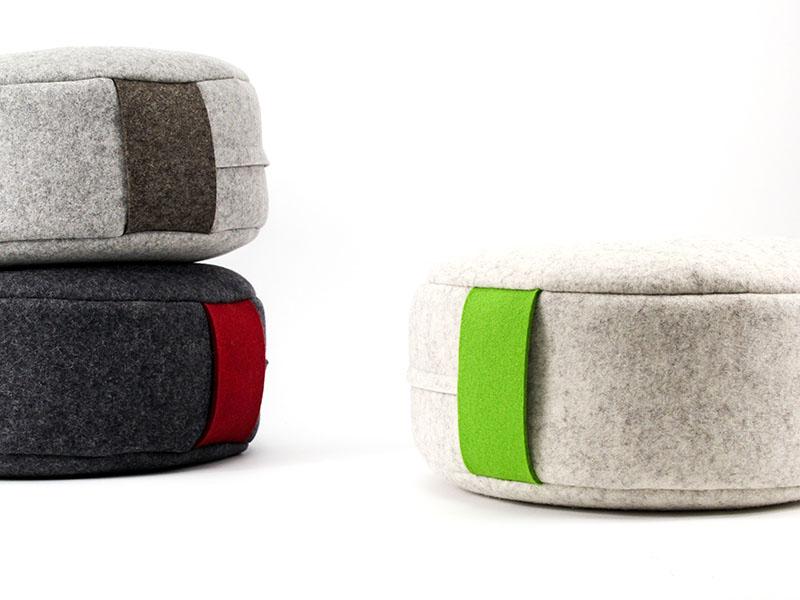 sitzkissen yogakissen meditationskissen aus filz klein. Black Bedroom Furniture Sets. Home Design Ideas