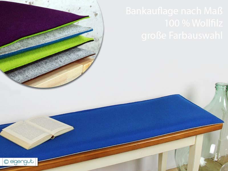 bankauflagen bankauflage nach ma aus wollfilz mit oder ohne polsterung. Black Bedroom Furniture Sets. Home Design Ideas