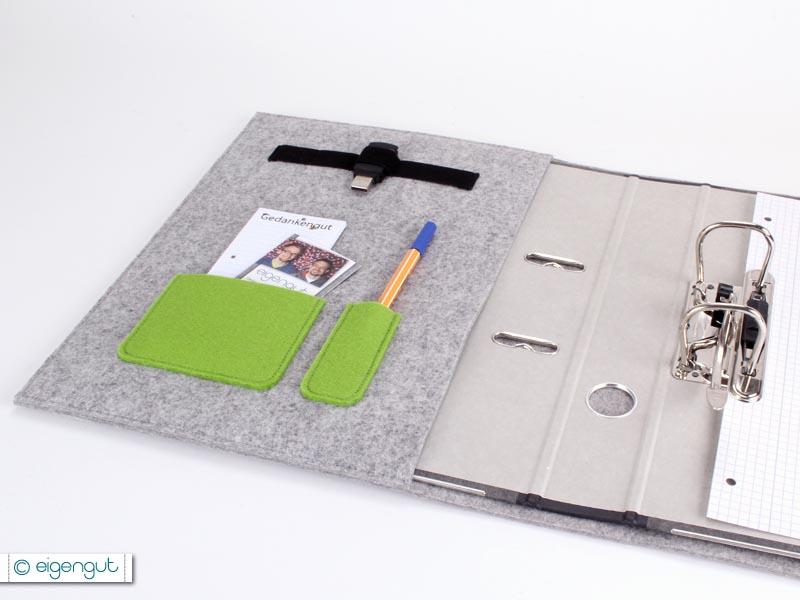 papeterie organizer schreibmappe a5 a4 aus filz notebook. Black Bedroom Furniture Sets. Home Design Ideas