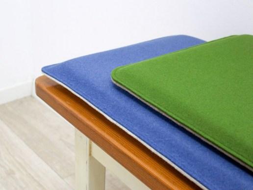 neues aus der werkstatt bankauflage nach ma aus filz mit runden ecken. Black Bedroom Furniture Sets. Home Design Ideas