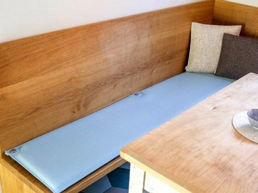 wohnen bankauflage nach ma aus filz mit sen zur befestigung. Black Bedroom Furniture Sets. Home Design Ideas