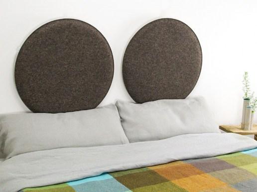 wohnen wandkissen aus filz rund 30 bis 60 cm verdeckte aufh ngung inkl montagezubeh r. Black Bedroom Furniture Sets. Home Design Ideas