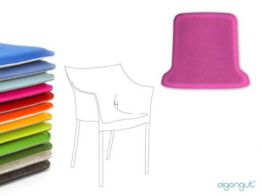 sitzkissen f r designerst hle sitzkissen aus filz passend f r kartell dr no. Black Bedroom Furniture Sets. Home Design Ideas