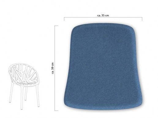 sitzkissen f r designerst hle sitzkissen aus filz passend f r vitra vegetal. Black Bedroom Furniture Sets. Home Design Ideas