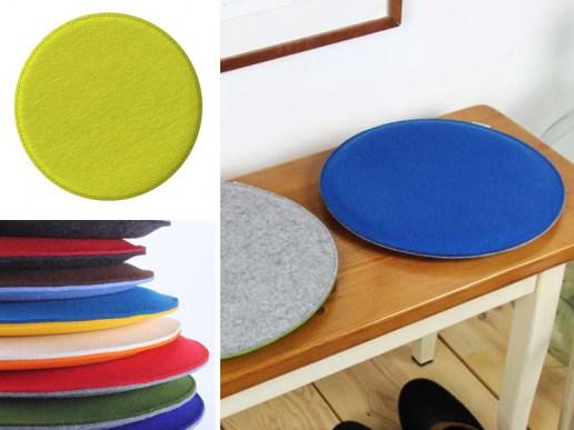 wohnen rundes sitzkissen aus filz in deinen wunschfarben. Black Bedroom Furniture Sets. Home Design Ideas