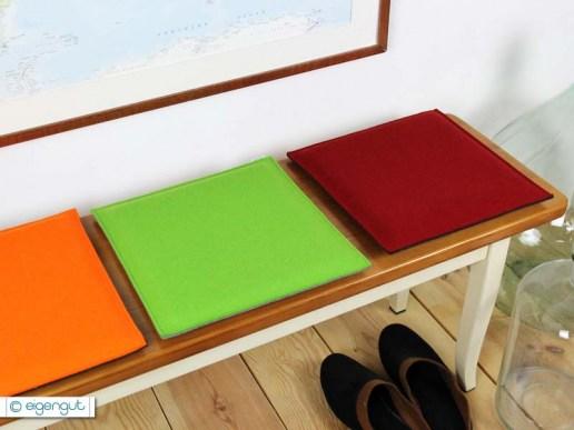 wohnen eckiges sitzkissen aus filz in deinen wunschfarben. Black Bedroom Furniture Sets. Home Design Ideas