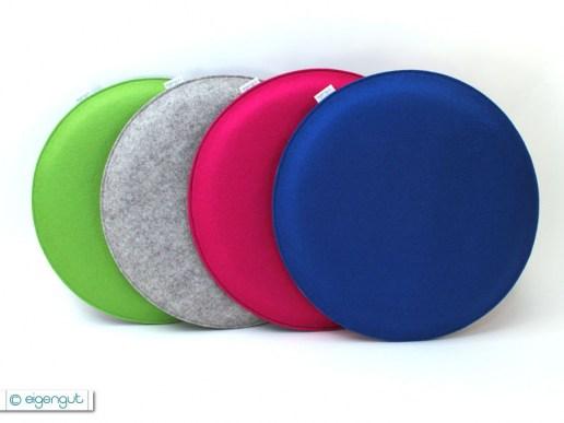 sitzkissen rundes sitzkissen aus filz in deinen wunschfarben. Black Bedroom Furniture Sets. Home Design Ideas