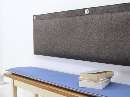 wohnen wandkissen gepolstert aus wollfilz 2 farbig uni. Black Bedroom Furniture Sets. Home Design Ideas