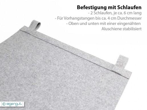 vorh nge vorhang aus filz dots nach ma. Black Bedroom Furniture Sets. Home Design Ideas