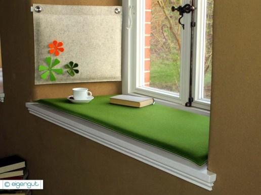 wandkissen wandkissen gepolstert aus wollfilz mit bl ten. Black Bedroom Furniture Sets. Home Design Ideas