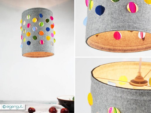 lampen lampenschirm aus wollfilz dots. Black Bedroom Furniture Sets. Home Design Ideas