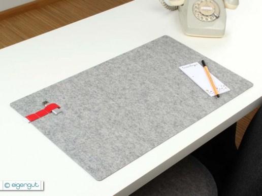 schreibtischunterlagen schreibtischunterlage aus wollfilz mit gummiband. Black Bedroom Furniture Sets. Home Design Ideas