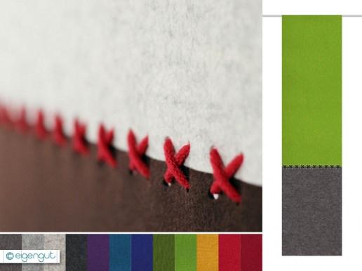 vorh nge vorhang aus filz kreuzstich zweifarbig nach ma. Black Bedroom Furniture Sets. Home Design Ideas