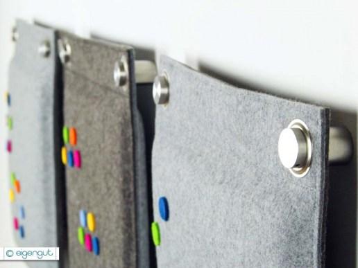wandkissen wandkissen gepolstert aus wollfilz mit dots blumen. Black Bedroom Furniture Sets. Home Design Ideas