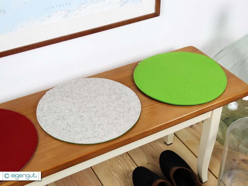 sitzkissen rundes sitzkissen aus filz ungef ttert. Black Bedroom Furniture Sets. Home Design Ideas