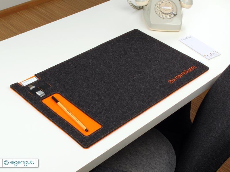wohnen schreibtischunterlage aus filz mit ablagef cher 2 lagig. Black Bedroom Furniture Sets. Home Design Ideas