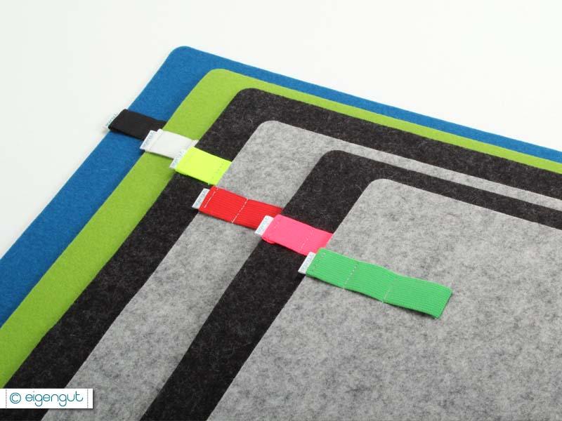 wohnen schreibtischunterlage aus wollfilz mit gummiband. Black Bedroom Furniture Sets. Home Design Ideas
