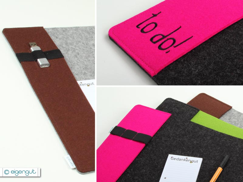 schreibtischunterlagen schreibtischunterlage aus filz mit seitenfach. Black Bedroom Furniture Sets. Home Design Ideas